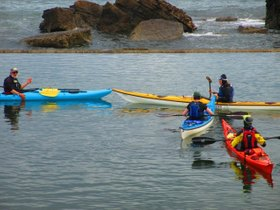 Photo of kayakers