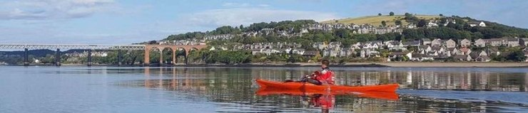 Photo of canoist on the Tay river